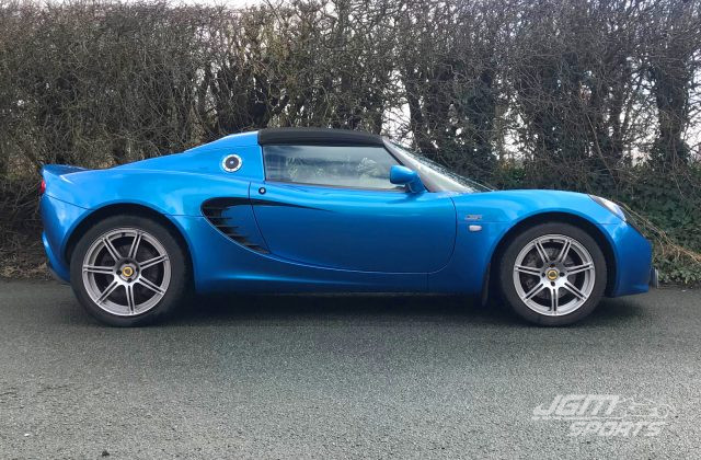 2007 S2 LOTUS ELISE S TOURING LAZER BLUE FORGED DROP WHEELS